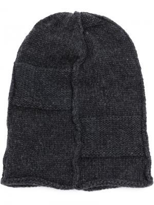 Классическая вязаная шапка Masnada. Цвет: серый