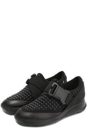 Комбинированные кроссовки с декором Christopher Kane. Цвет: черный
