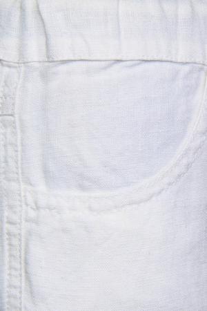 Льняные брюки il Gufo. Цвет: белый