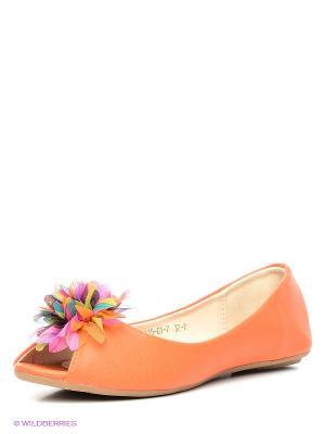 Балетки INARIO. Цвет: оранжевый