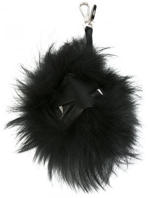 Брелок из перьев Fendi. Цвет: чёрный
