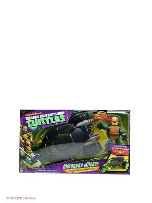 Мотоцикл Черепашки-Ниндзя Playmates toys. Цвет: зеленый, черный