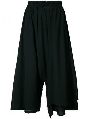 Широкие брюки  Ys Y's. Цвет: чёрный