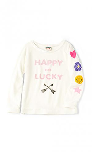 Футболка happy go lucky Junk Food. Цвет: ivory