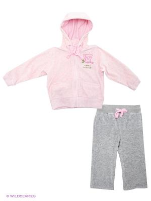 Комплект одежды Baby Club. Цвет: серый меланж, розовый