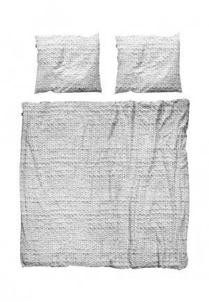 Комплект постельного белья 2 - спальный Snurk. Цвет: серый