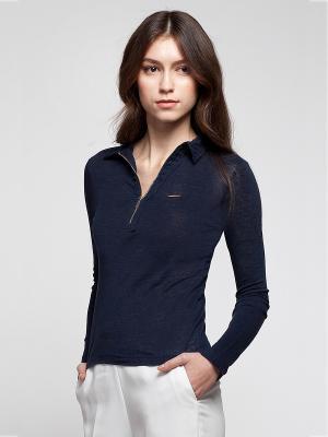 Блузка VILATTE. Цвет: темно-синий
