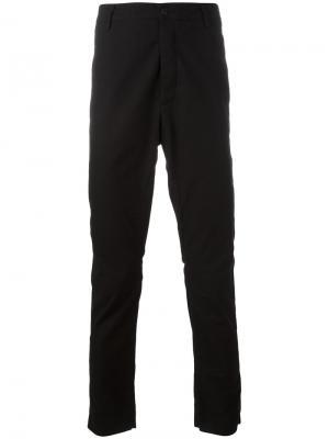 Зауженные брюки Poème Bohémien. Цвет: чёрный