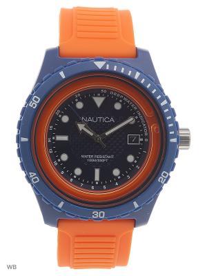 Часы Nautica. Цвет: синий, оранжевый