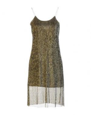 Платье до колена AXARA PARIS. Цвет: золотистый