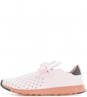 Розовые кроссовки с перфорацией Native. Цвет: розовый