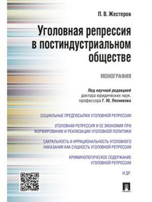 Уголовная репрессия в постиндустриальном обществе. Монография. Проспект. Цвет: белый