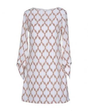 Короткое платье ANONYME DESIGNERS. Цвет: хаки