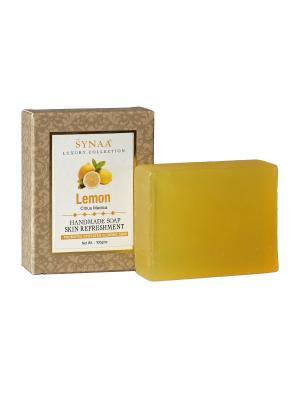 Мыло ручной работы Лимон Synaa. Цвет: светло-желтый
