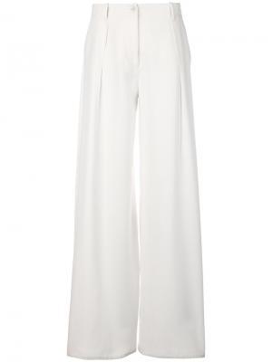 Широкие брюки Tomas Maier. Цвет: белый
