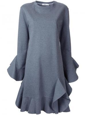 Платье с оборками Goen.J. Цвет: серый