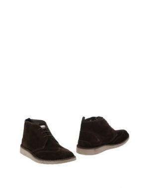 Полусапоги и высокие ботинки ANGELO NARDELLI. Цвет: темно-коричневый
