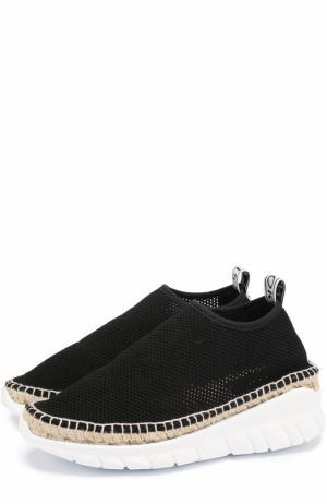 Текстильные кроссовки на массивной подошве Kenzo. Цвет: черный