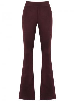 Расклешенные трикотажные брюки Cecilia Prado. Цвет: красный