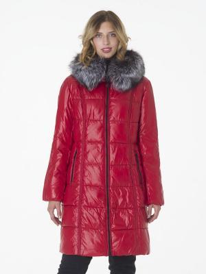 Пальто утепленное CATTAIL WILLOW. Цвет: красный