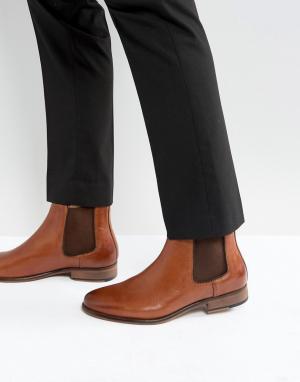 WALK LONDON Кожаные ботинки челси Harrington. Цвет: рыжий