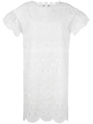 Платье с кружевной отделкой Tsumori Chisato. Цвет: белый