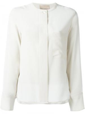 Рубашка с потайной застежкой Erika Cavallini. Цвет: белый
