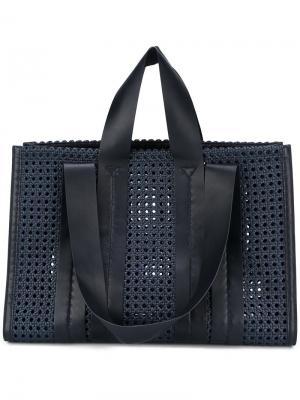Большая сумка на плечо Costanza Corto Moltedo. Цвет: синий