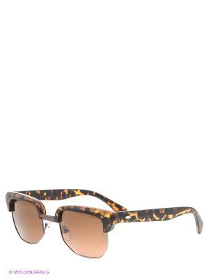 Солнцезащитные очки To be Queen. Цвет: коричневый, желтый