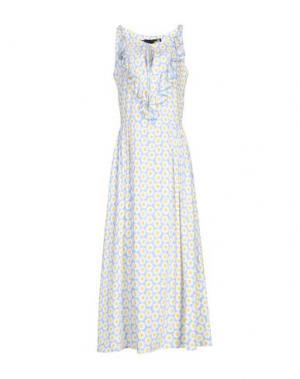 Длинное платье LOVE MOSCHINO. Цвет: небесно-голубой