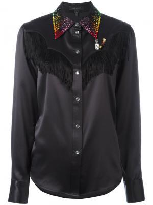 Декорированная рубашка в стиле Вестерн Marc Jacobs. Цвет: чёрный