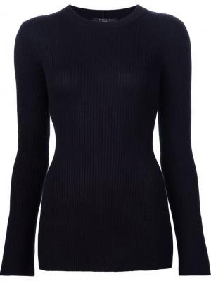 Трикотажная блузка Derek Lam. Цвет: чёрный