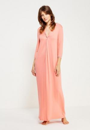 Платье домашнее Petit Pas. Цвет: коралловый