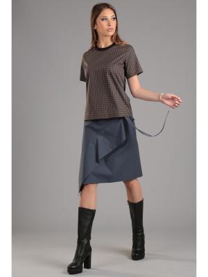 Блуза ЭНСО. Цвет: коричневый