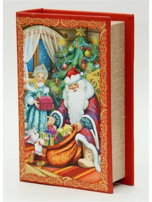 Декоративная шкатулка Дед Мороз и Снегурочка (17*11*5чс, из МДФ) Magic Time. Цвет: красный