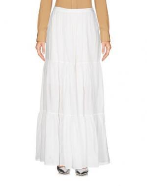 Длинная юбка ROSSOPURO. Цвет: белый