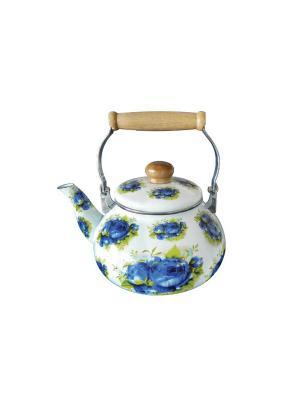 Чайник эмаллированный 1,2л. BOHMANN. Цвет: белый