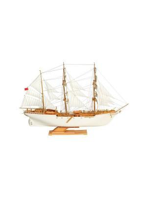 Сборная модель-копия. Учебно-парусное судно Товарищ Огонек. Цвет: золотистый, белый