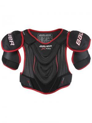 Защита плеч BAUER VAPOR X700 Юниорская. Цвет: черный, красный, белый