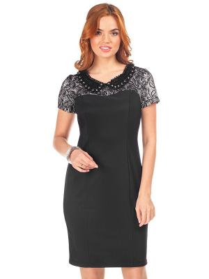 Платье VENUSITA. Цвет: черный