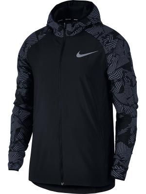 Куртка M NK ESSNTL FLSH JKT HD Nike. Цвет: черный