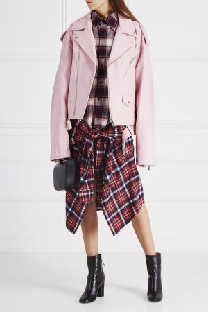 Кожаная куртка Ambush. Цвет: розовый