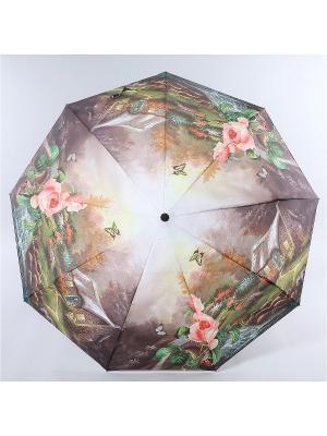 Зонт Magic Rain. Цвет: коричневый, бледно-розовый, зеленый