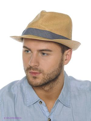 Шляпа Oodji. Цвет: бежевый