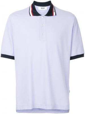 Рубашка-поло с короткими рукавами MSGM. Цвет: розовый и фиолетовый