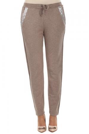 Спортивные брюки Comma. Цвет: бежевый