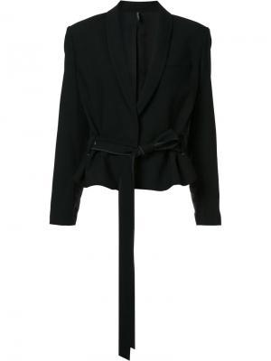 Пиджак с поясом Helmut Lang. Цвет: чёрный