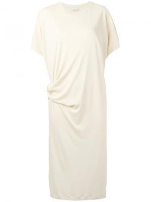 Платье-футболка Ullin By Malene Birger. Цвет: телесный