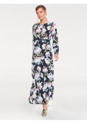 Платье макси Rick Cardona. Цвет: с рисунком