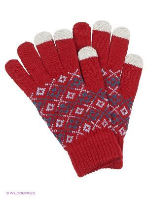 Перчатки для сенсорных экранов TERRITORY. Цвет: красный